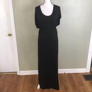 Motherhood Black Soft Comfy Long Maxi Dress Size M